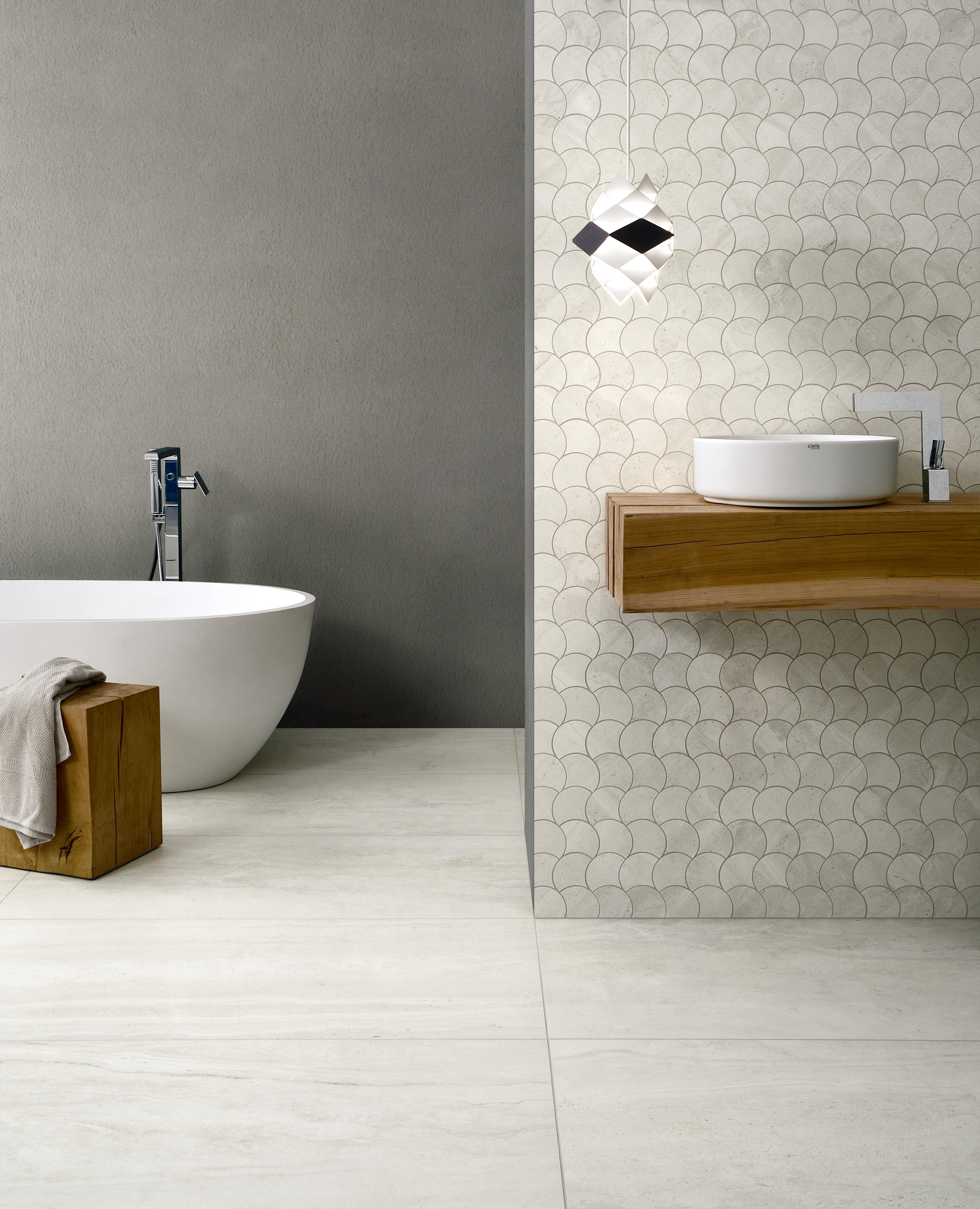 Coem Reverso2 White 60 215 120 Mosaico Wavy Japan Ceramics